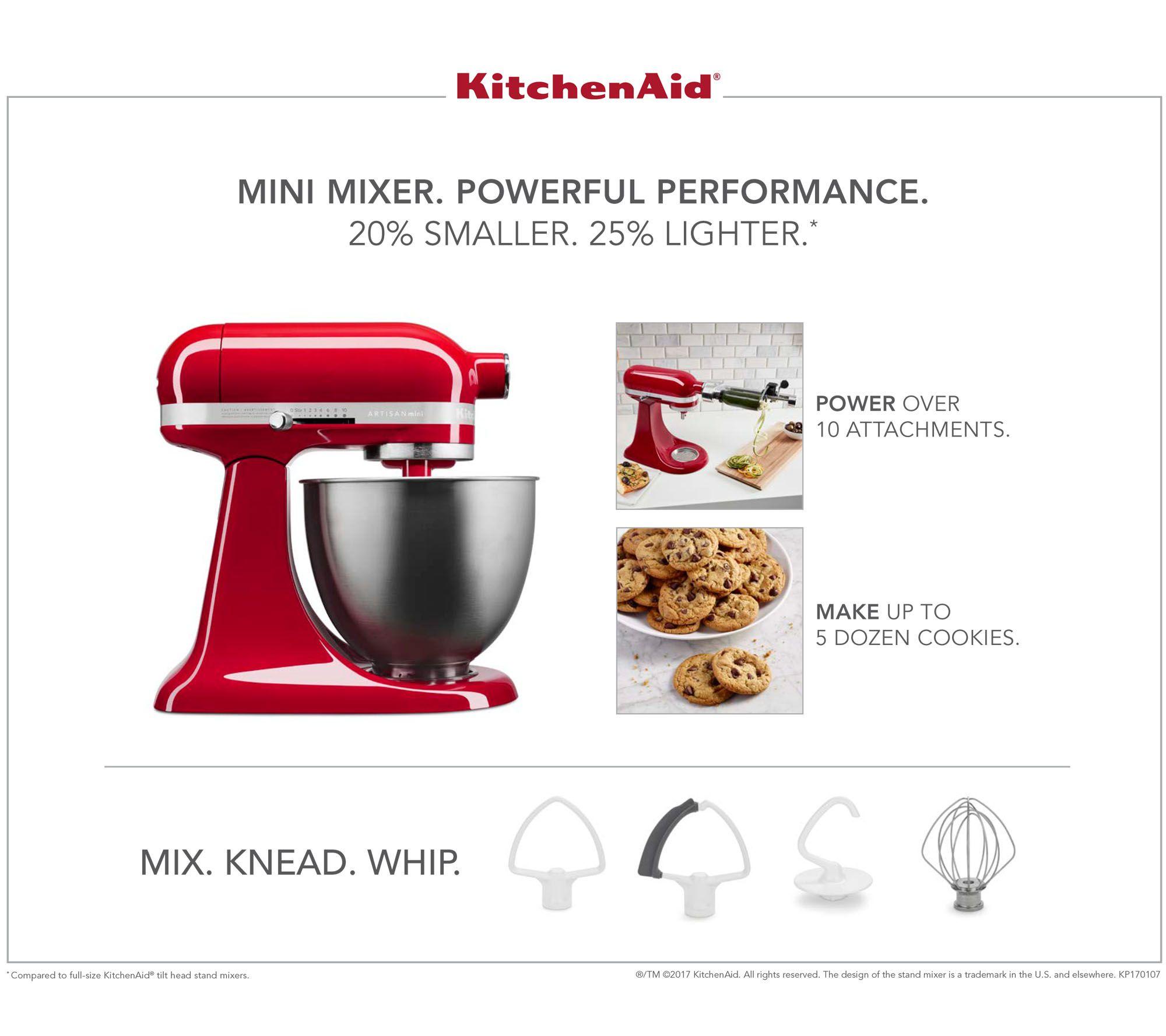 Awe Inspiring Kitchenaid 3 5Qt Artisan Stand Mixer With Flex Edge Beater Qvc Com Home Interior And Landscaping Palasignezvosmurscom