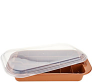 Copper Chef Brownie Pan with Adjustable Separator,Lid & Easy-Lift Tray - K46615