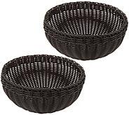 Lock & Lock Set of 2 XL Round Dishwasher Safe Baskets - K47515