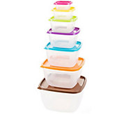 Classic Cuisine 14-Piece Colored Food Storage Set - Square - K306316