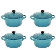 Le Creuset Stoneware (4) 15-oz Cocottes - K47018