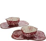 Temp-tations Floral Lace 4-Piece Soup & Sandwich Set - K47318
