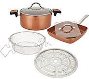 Copper Chef 5-qt Pasta Pot, 9.5 Saute Skillet & Accessories - K48118