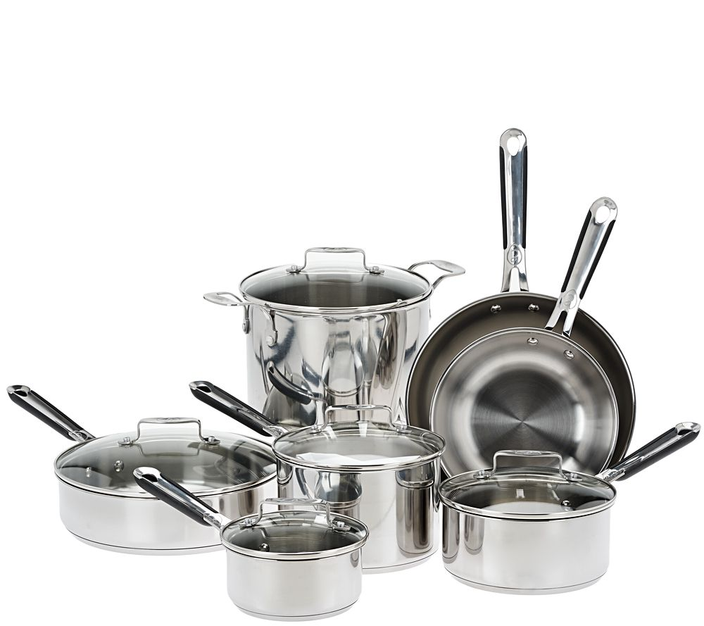 Emeril 12 Piece Stainless Steel Cookware Set   Page 1 U2014 QVC.com