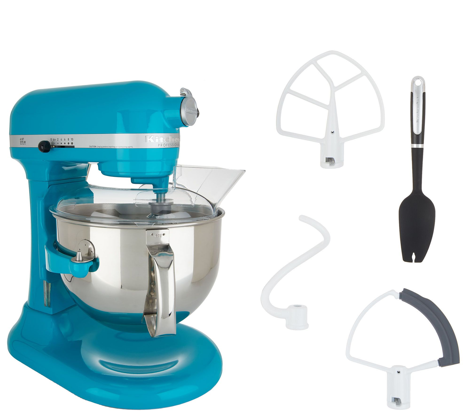 kitchenaid pro 600 6 qt bowl lift stand mixer w flex edge beater rh qvc com