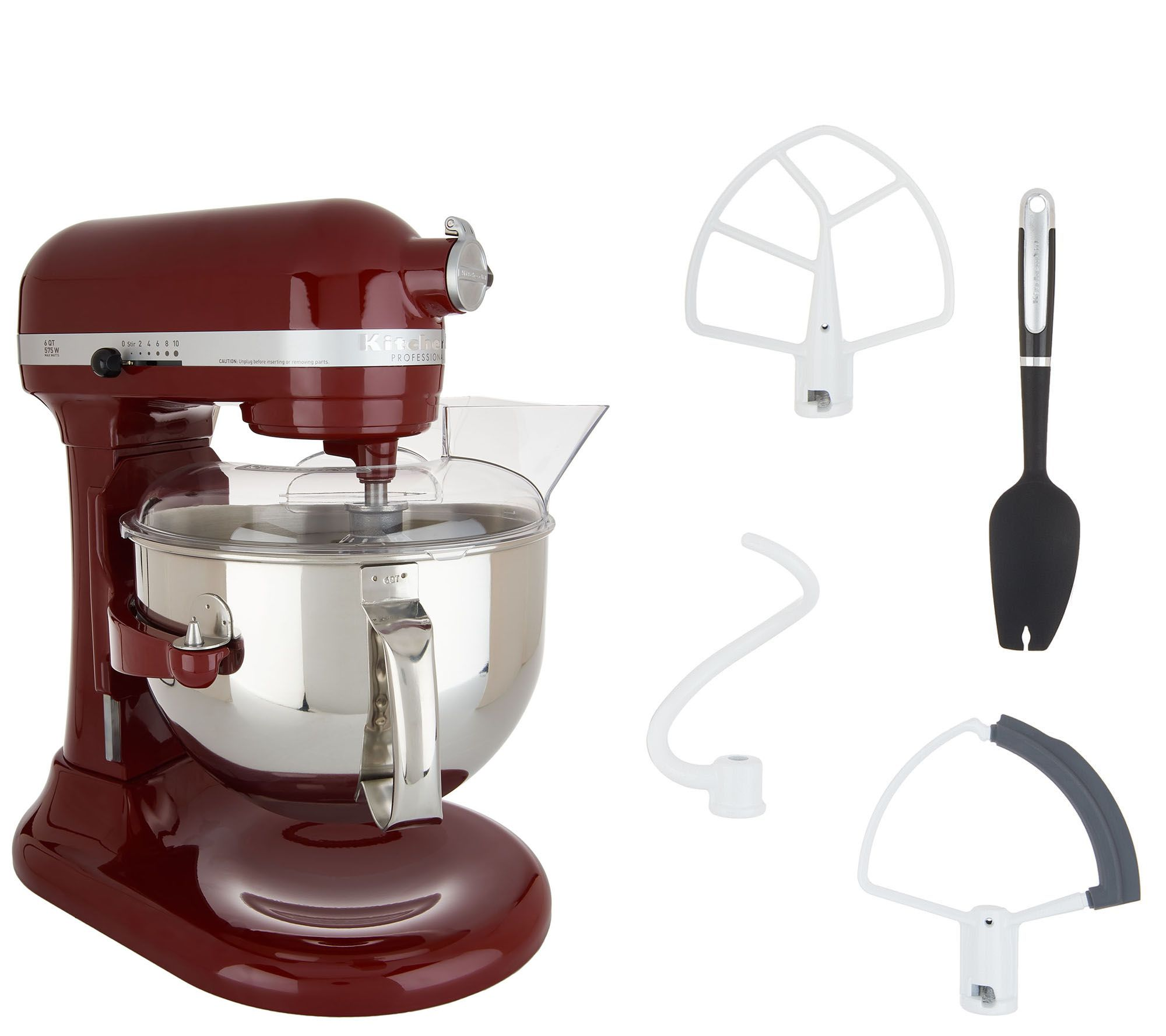 KitchenAid Pro 600 6-qt Bowl Lift Stand Mixer w/ Flex Edge Beater — QVC com