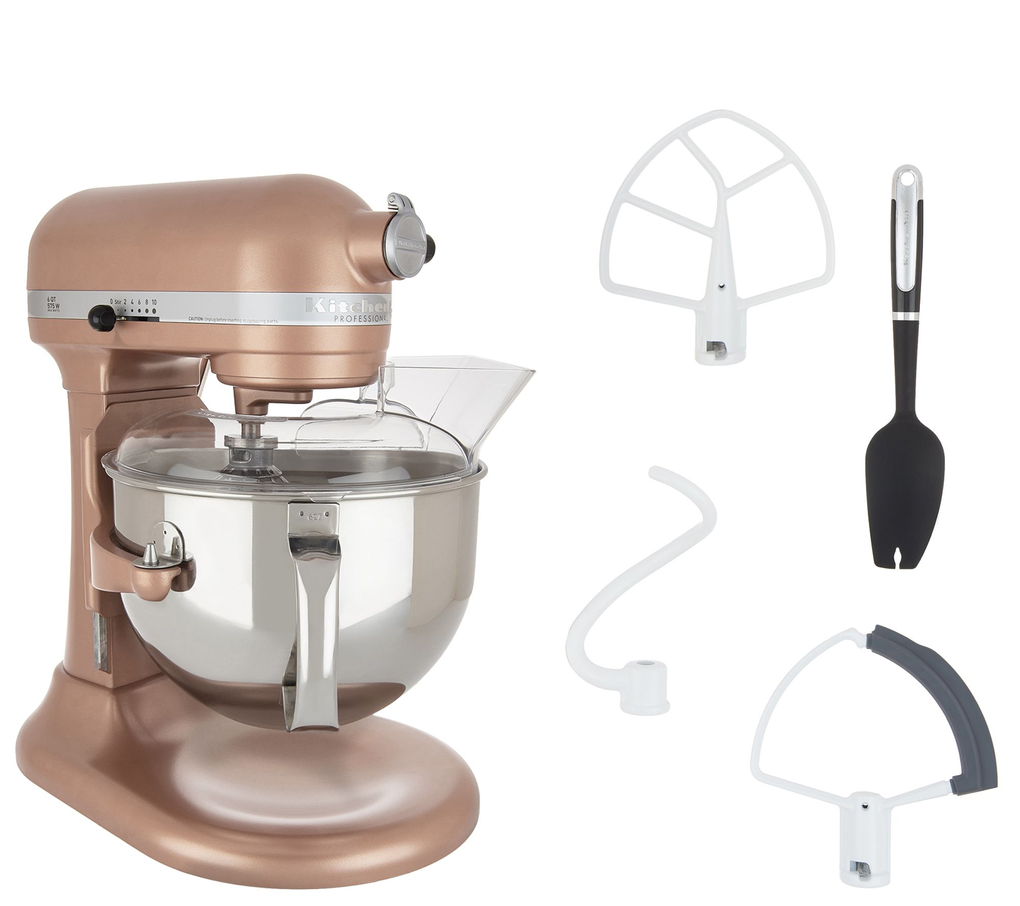 KitchenAid Pro 600 6-qt Bowl Lift Stand Mixer w/ Flex Edge Beater — QVC com