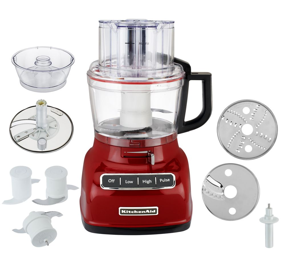 Kitchenaid 9cup Exact Slice Food Processor W French Fry Dough Attach Page 1 Qvc