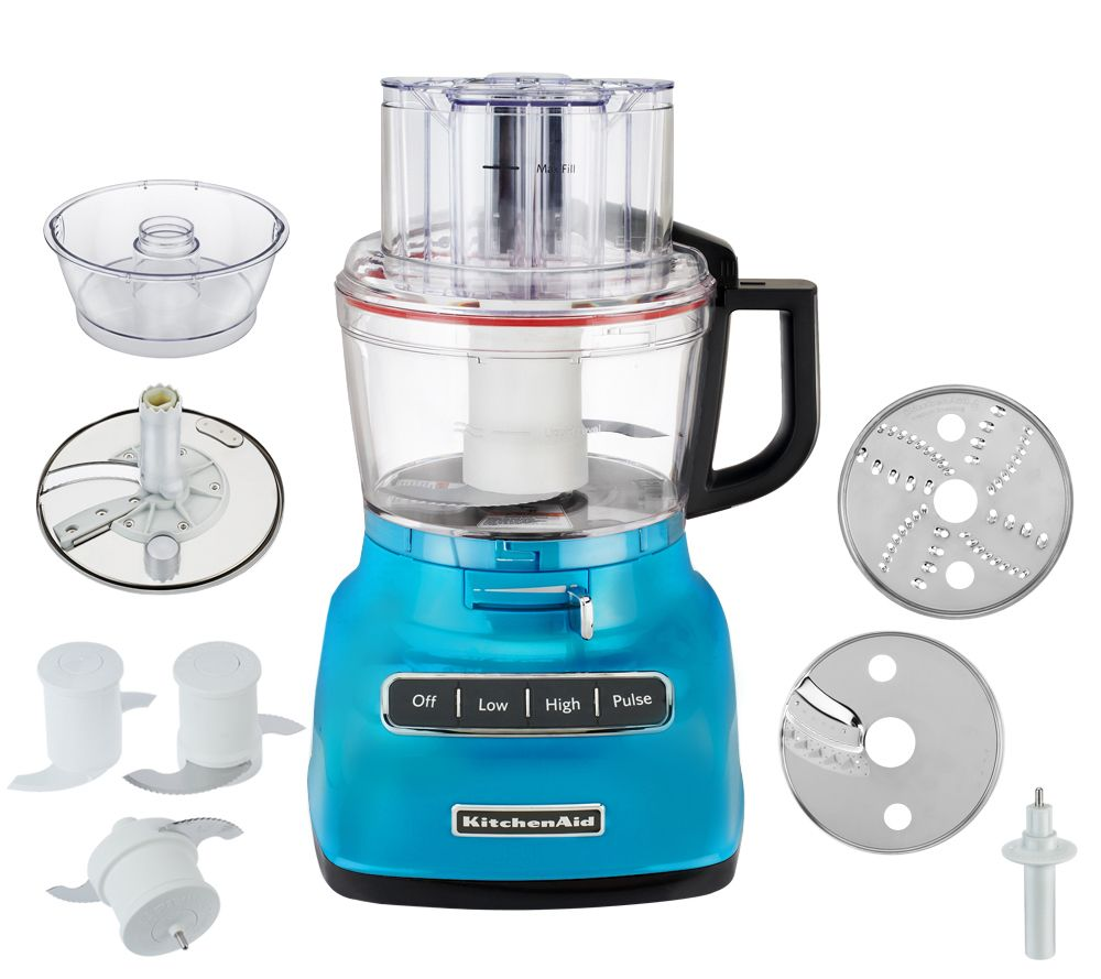 KitchenAid 9Cup Exact Slice Food Processor w/ French Fry & Dough ...
