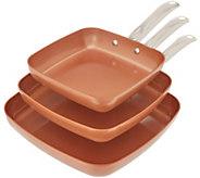 Copper Chef 3-Piece Nonstick Square Pan Set - K47122