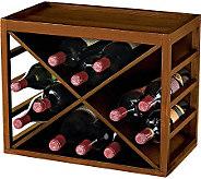 12-Bottle X Cube-Stackable Hardwood Wine Rack -Walnut Finish - K302223