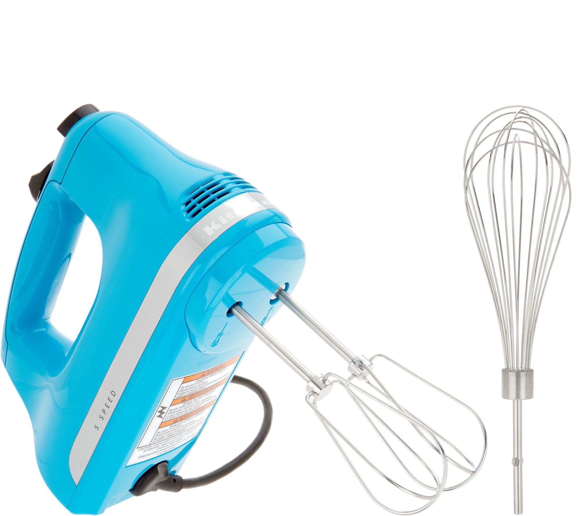KitchenAid 5-Speed Hand Mixer w/Wire Whisk w/ Wire Whisk — QVC.com