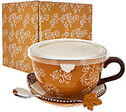 Temp-tations 24-oz Floral Lace Soup Mug w/ Lid-it - K42324