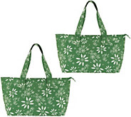 Temp-tations Set of 2 Insulated Market Totes - K47924