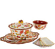 Temp-tations Old World 6-pc Serving Platter & Pedestal Bowl Set - K44225