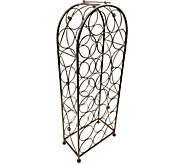 Sorbus 23 Bottle Bordeaux Chateau Wine Rack - Bronze - K376427