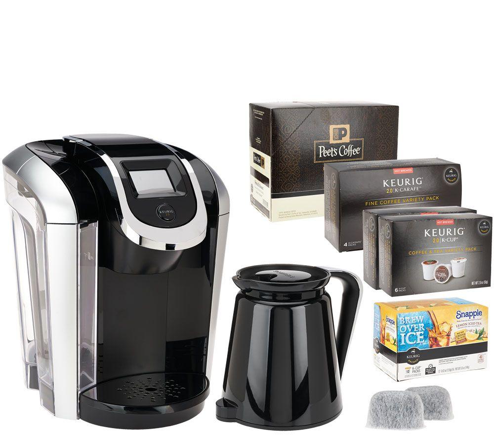 Keurig 2 0 K450 Coffee Maker W 46 K Cup Packs 4 Carafe Filter Page 1 Qvc