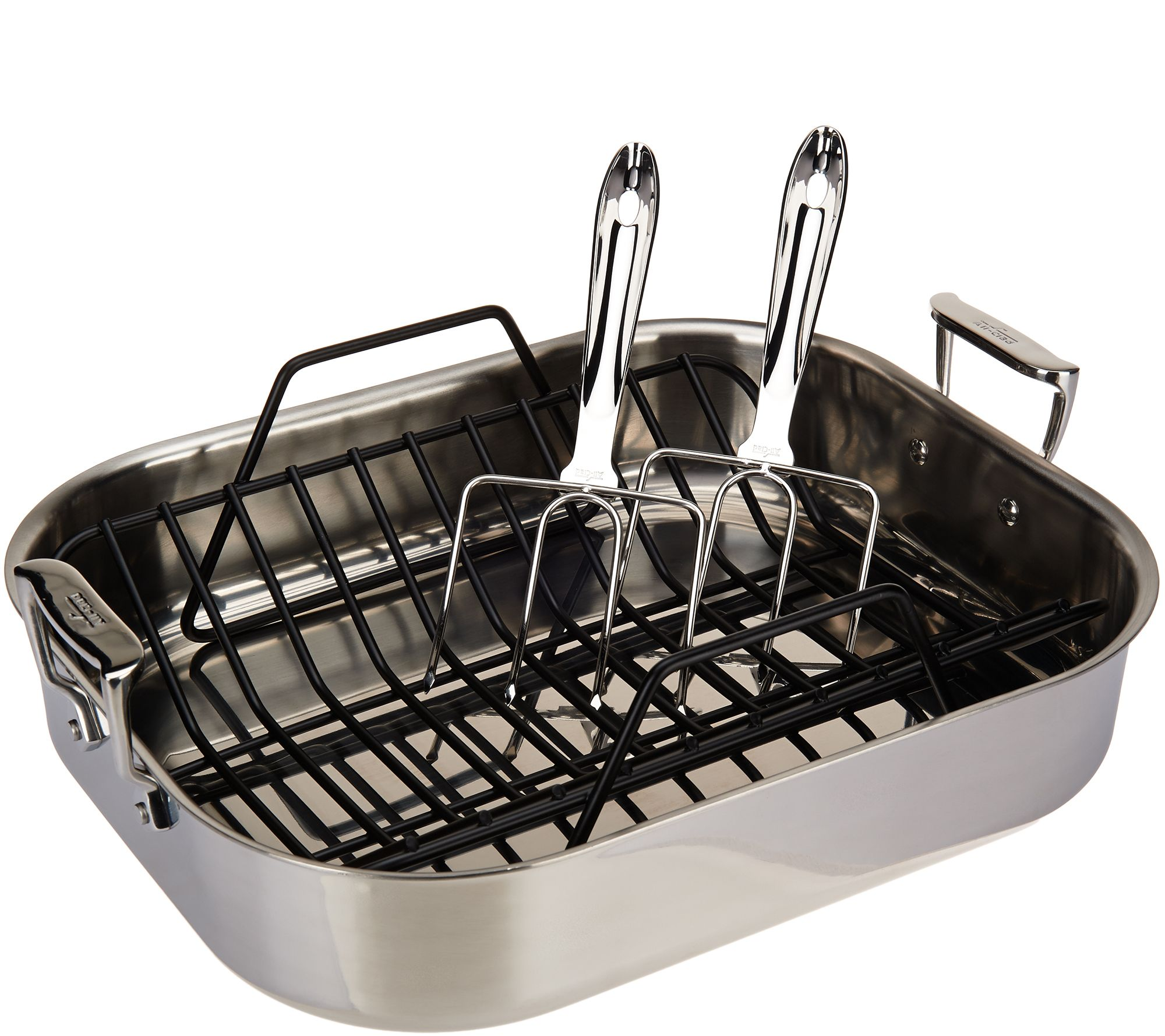 All Clad Stainless Large Roasting Pan With Rack Racks