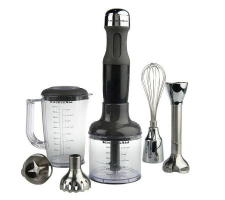 Kitchenaid 5 Sd Immersion Blender With Attachments Page 1 Qvc