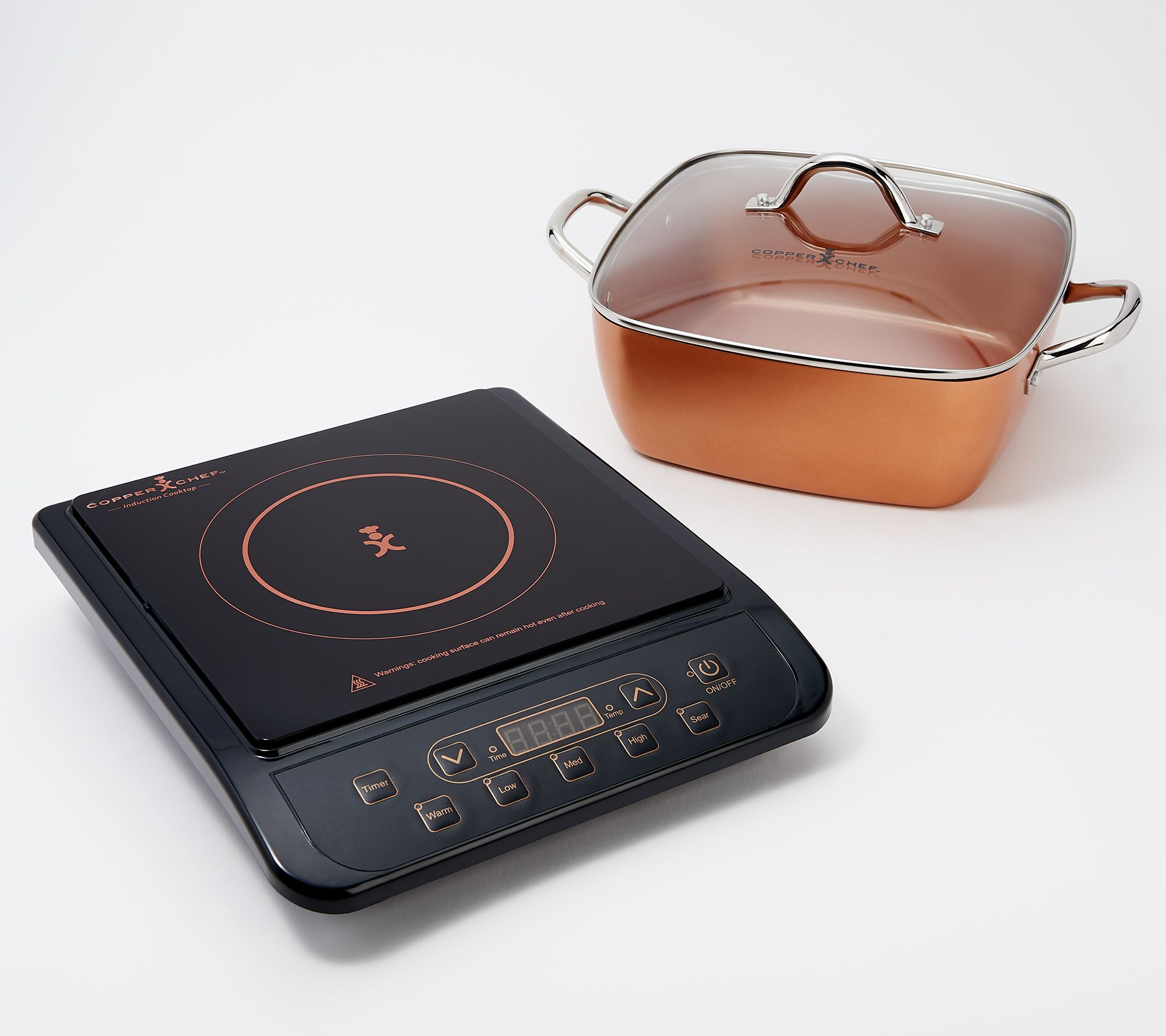 "Copper Chef 1300W Induction Cooktop With 11"" Casserole 5"