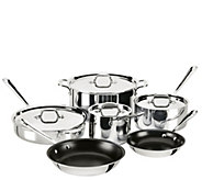All-Clad Stainless Steel 10-Piece Nonstick Cookware Set - K304830