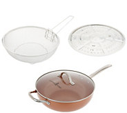 Copper Chef 12 Super Skillet with Glass Lid and Accessories - K47130