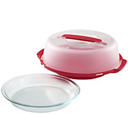 Pyrex Portable Pie Plate with Plastic Cover andBase - K305731