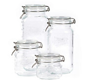 Mason Jar 4-Piece Clamp Jar Set - K377731