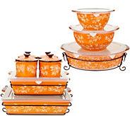 Temp-tations Floral Lace 16-Piece Bakeware Set - K46032