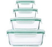 OXO Good Grips 8-Piece SNAP Glass Rectangular Container Set - K306733