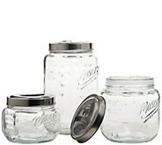 Mason Jar 3-Piece Pop-Up Canister Set - K377733