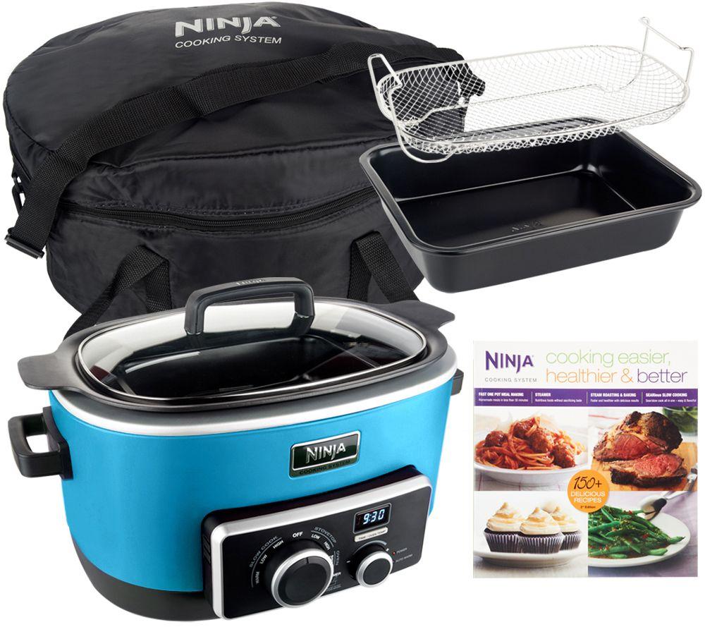 4 In 1 Ninja Cooking System W Recipe Book Bake Pan Travel Bag