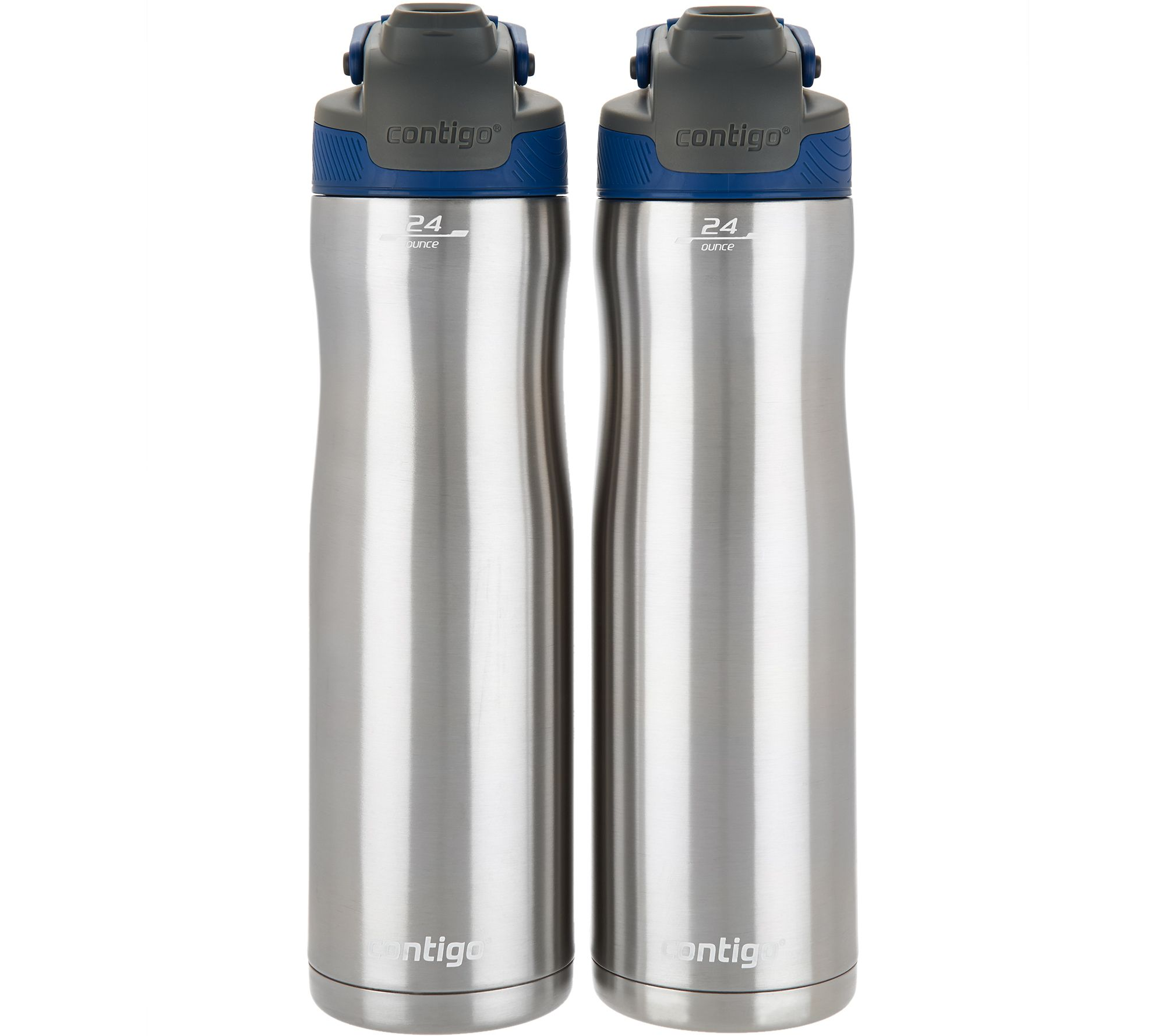 5b7ee0fec3 Contigo Set of 2 24oz. Autoseal Chill Stainless Steel Water Bottles - Page  1 — QVC.com
