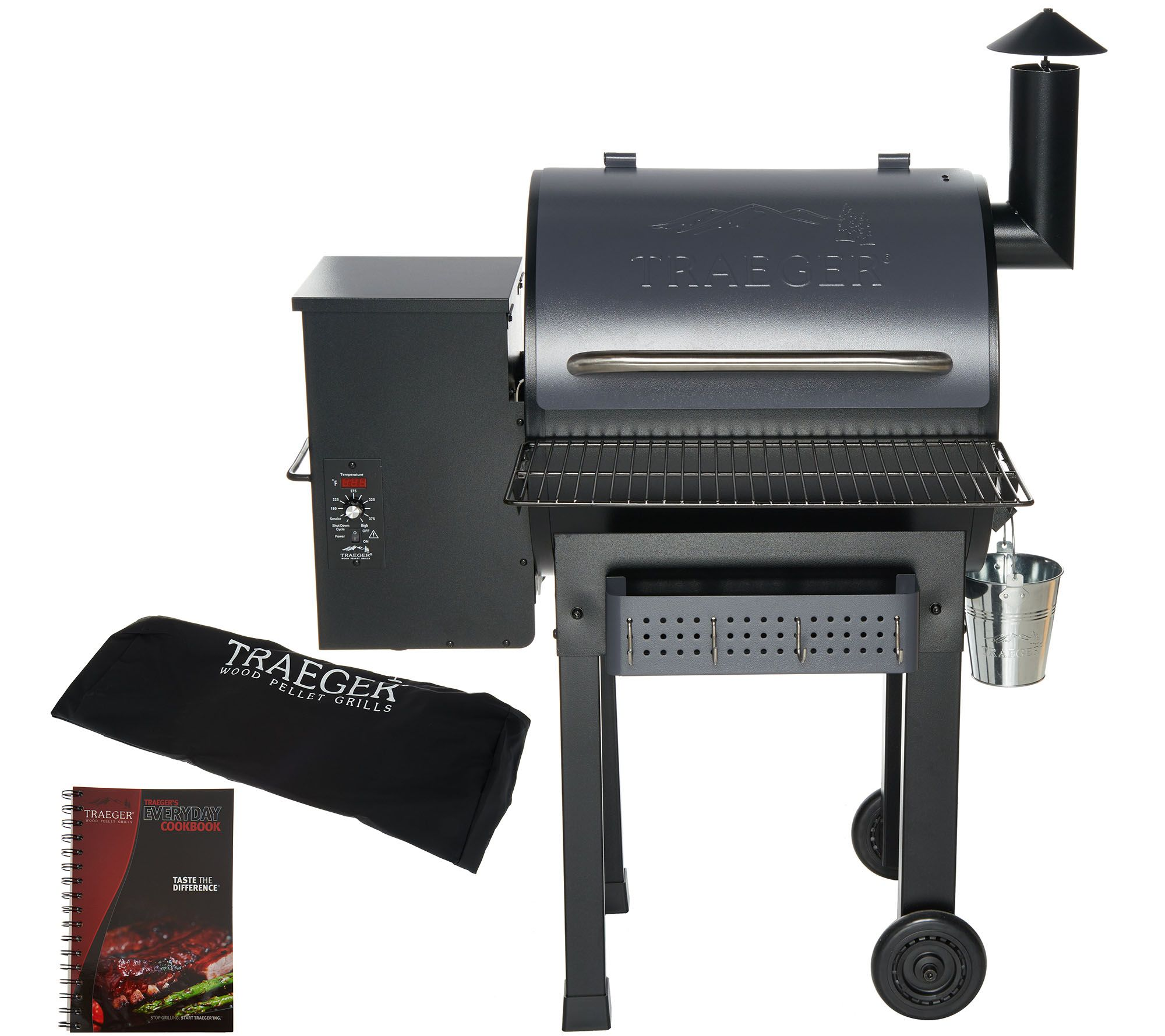 Traeger Lonestar 20 520 Sq In Wood Fired Grill Smoker Page 1 Qvc