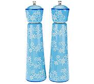 Temp-tations Set of 2 Holiday Ceramic Pepper Grinders - K41034