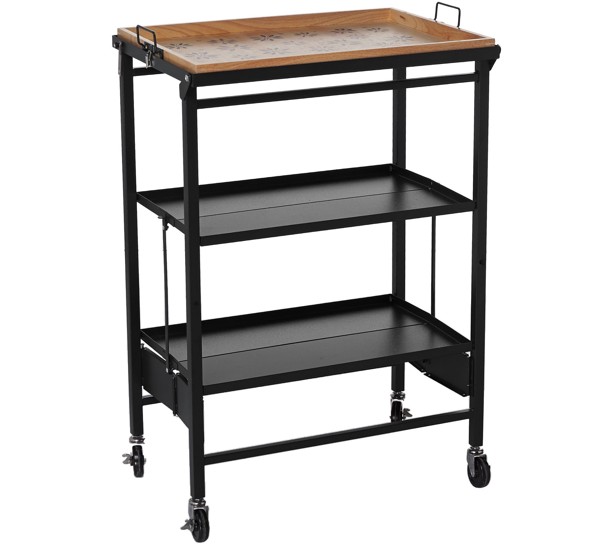 Temp-tations Old World Folding Kitchen Cart w/ Removable Tray - Page ...