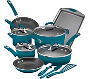 Rachael Ray 14-Pc Hard Enamel Aluminum Nonstic k Cookware Set - K375335