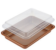 Ayesha Curry Bakeware 9 x 13 Covered Cake Pan - Copper - K376535