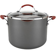 CooksEssentials Hard Anodized 8qt Stockpot w/Glass Locking Drain Lid - K44835