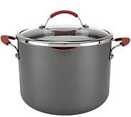 CooksEssentials Hard Anodized 8qt Stockpot w/Glass Locking Drain Lid - K44835