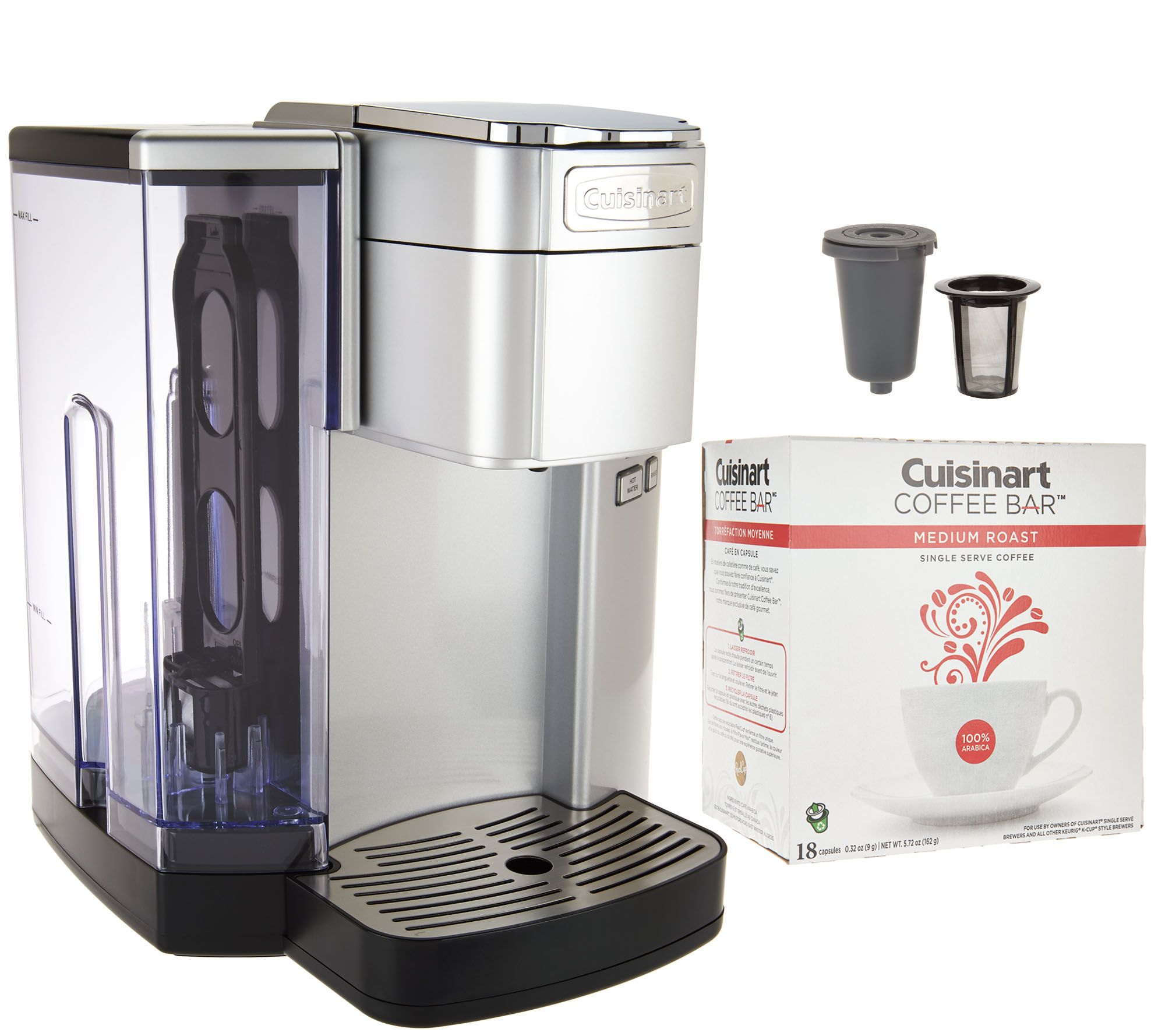 Cuisinart SS10 Single Serve Coffee Maker w Barista Cup & 18 Coffee