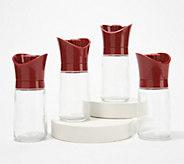 Kuhn Rikon Set of 4 Adjustable Glass Spice Grinders - K48535