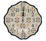 Temp-tations Old World 10.5 Ceramic Clock - K378336