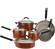 Cooks Essentials 10-piece Aluminum Cookware Set - K46336