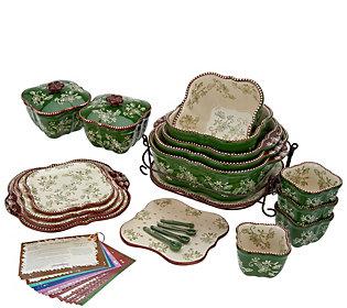 Temp-tations Floral Lace 25-Piece Bakeware Set