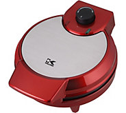 Kalorik Metallic Heart Shape Waffle Maker - Red - K375737