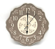 Temp-tations Floral Lace 10.5 Ceramic Clock - K378338