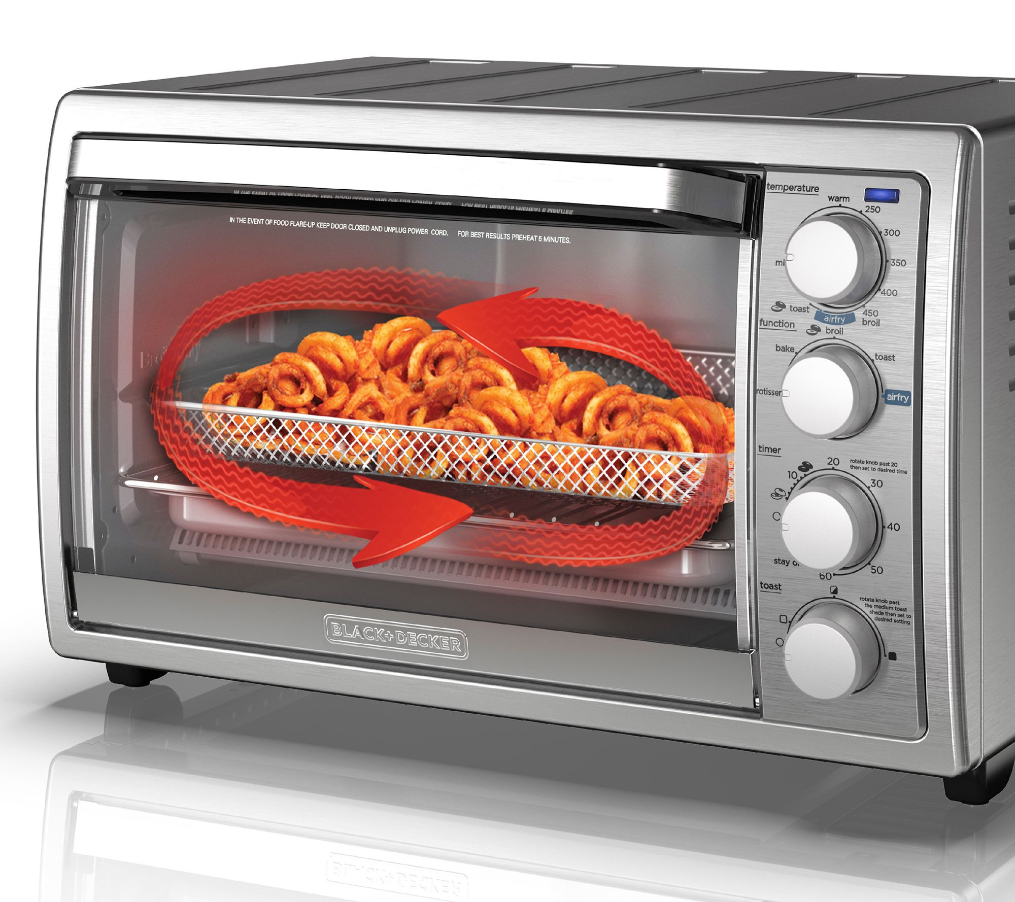 Black & Decker Air Fryer Toaster Oven with Rotisserie