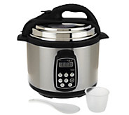 Technique 4 qt. Round Digital Stainless Steel Pressure Cooker - K40339