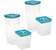 Neoflam 4-Piece Tritan Storage Set with Smart Seal Lid - K48039